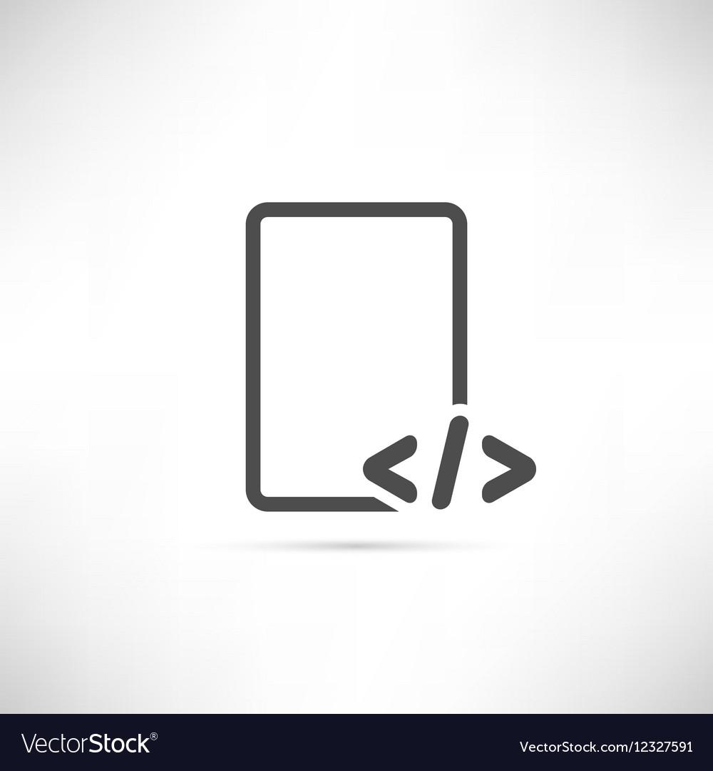 Text Code Icon
