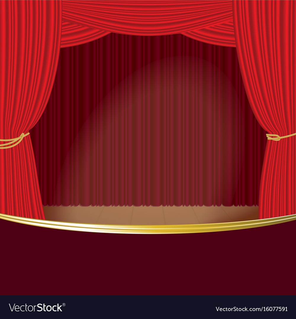 Theater stage curtain template