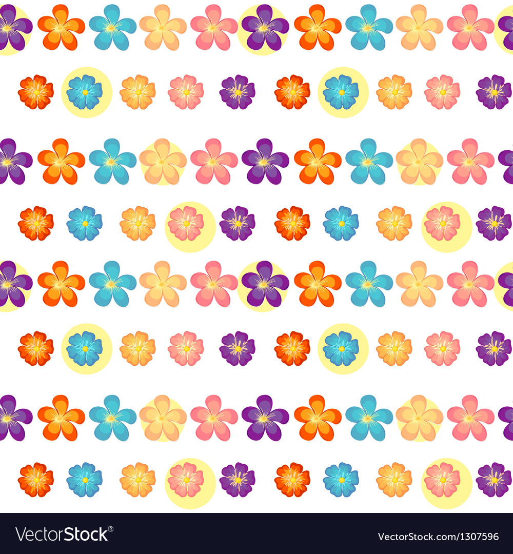a flowery wallpaper design royalty free vector image
