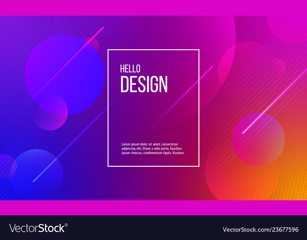 Abstract background of circles and lines in colors