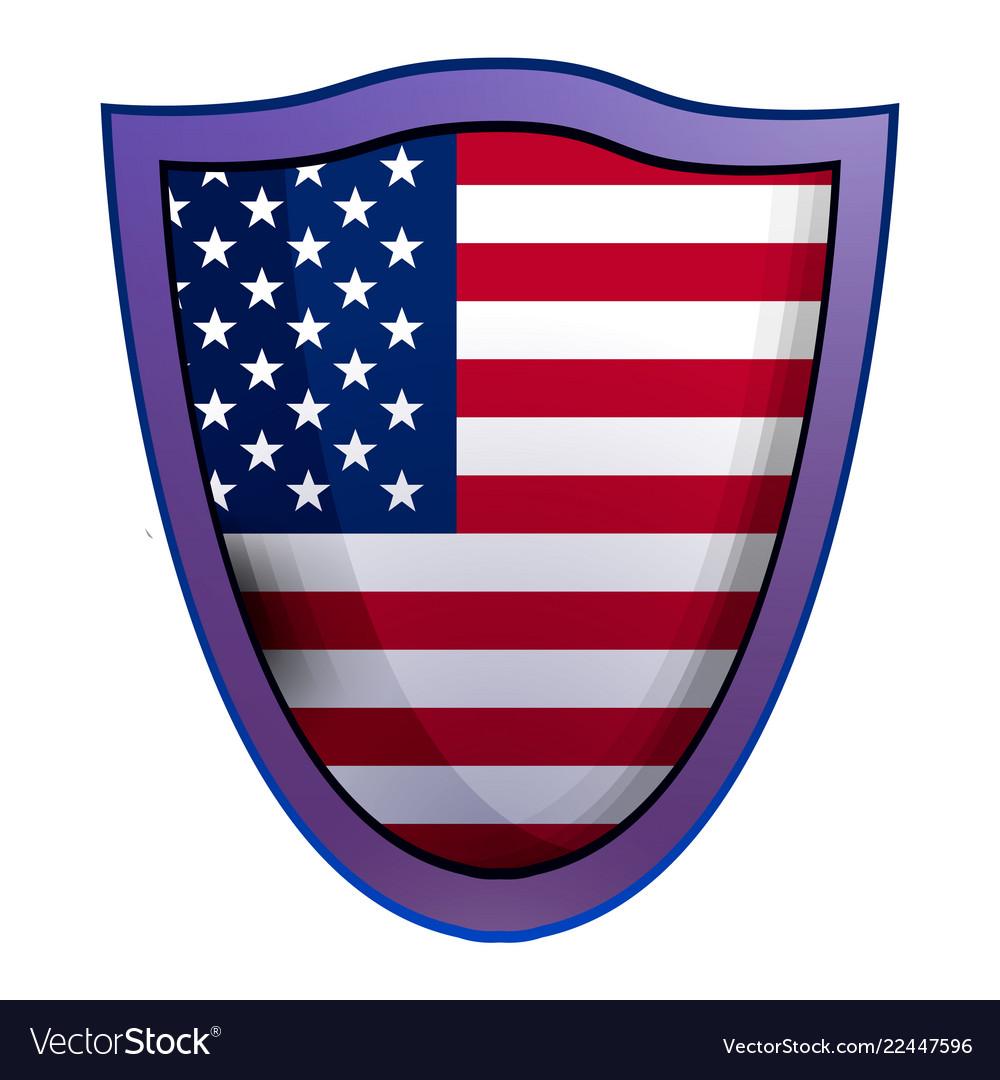 America shield icon realistic style