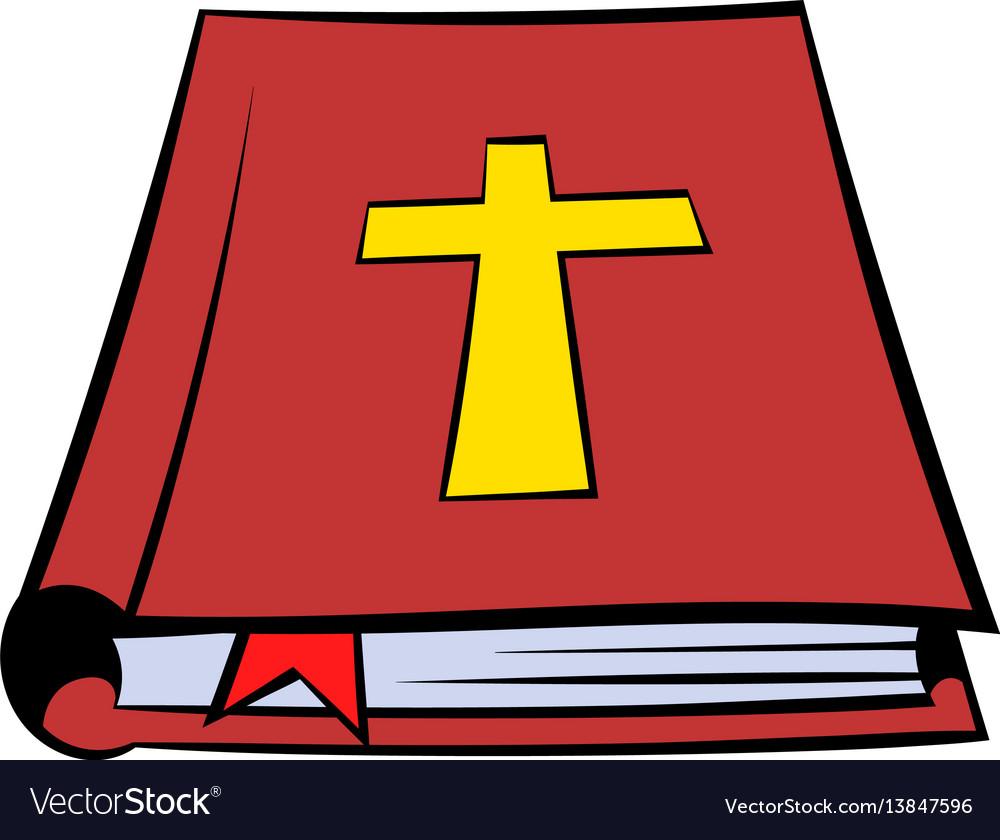 Bible book icon icon cartoon Royalty Free Vector Image