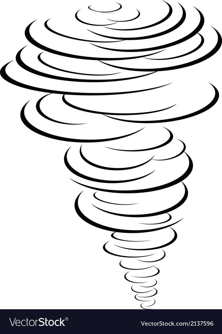 Black tornado symbol