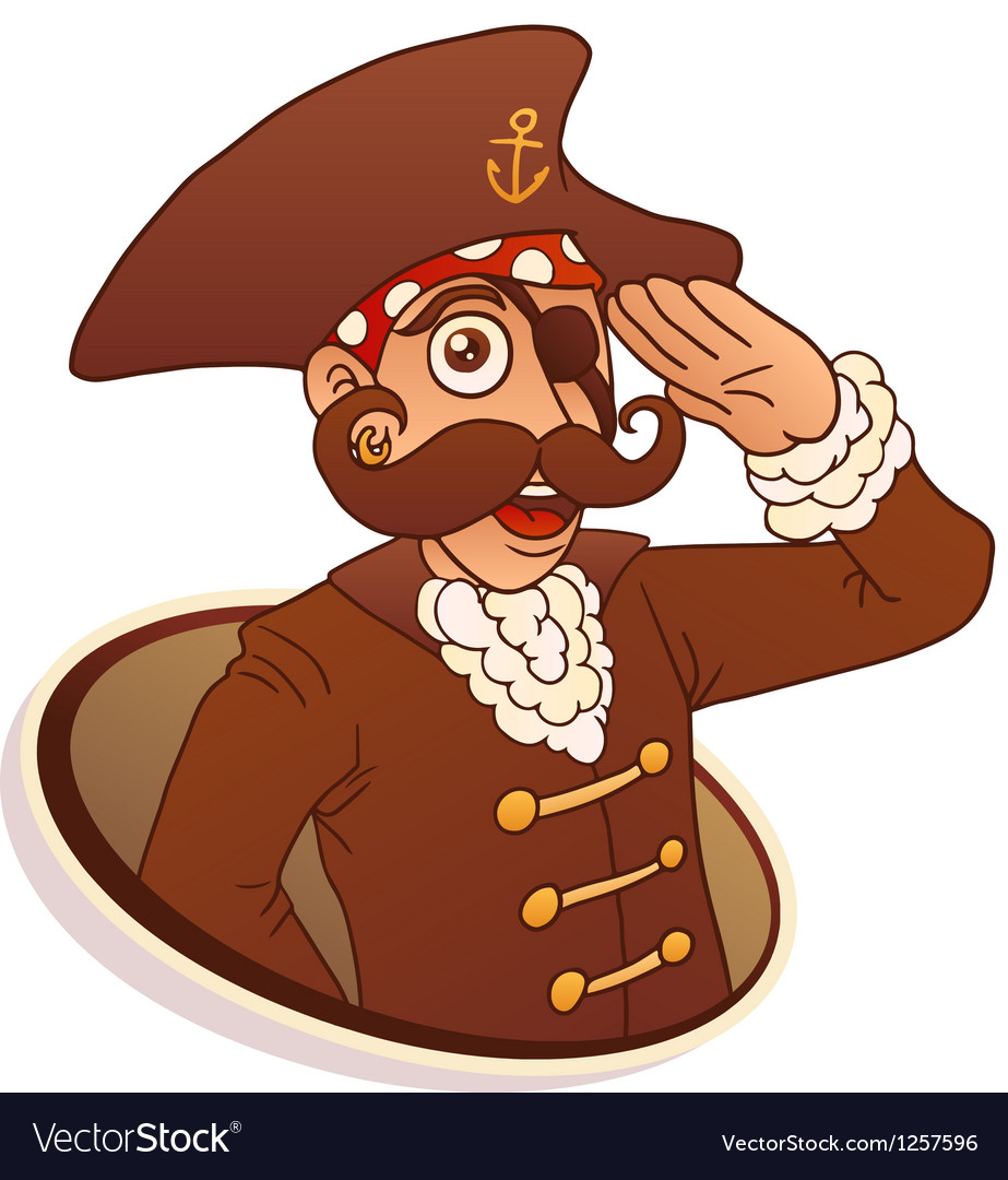 Captain Pirate vector image