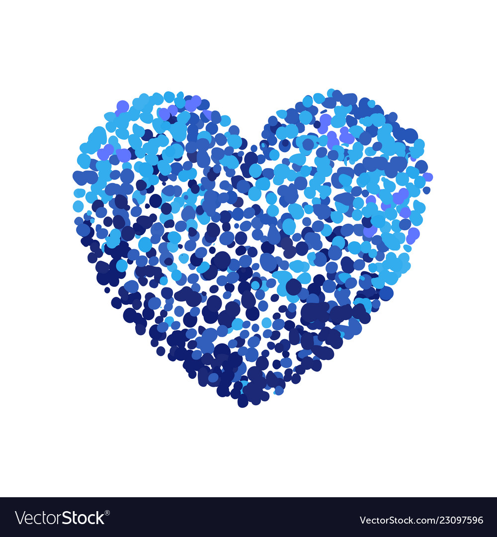 Colorful of blue heart