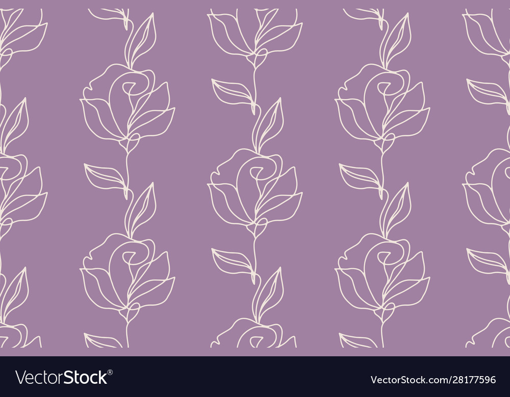 Floral seamless pattern with roses flowers