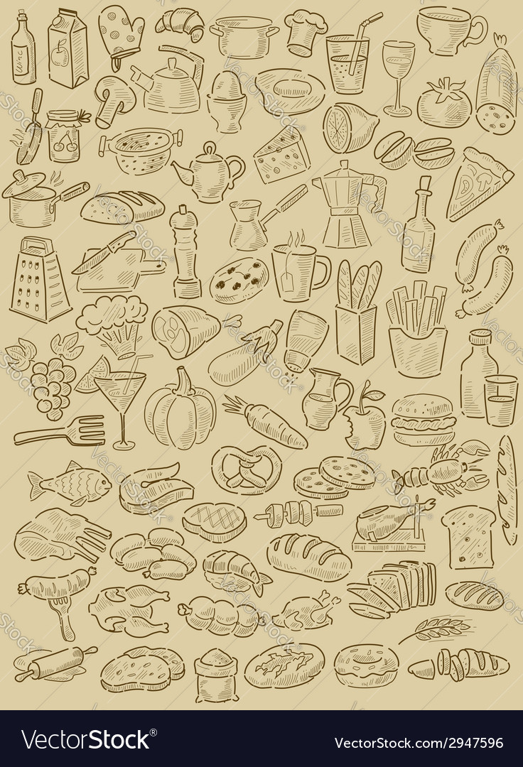 Hand drawn food vector image