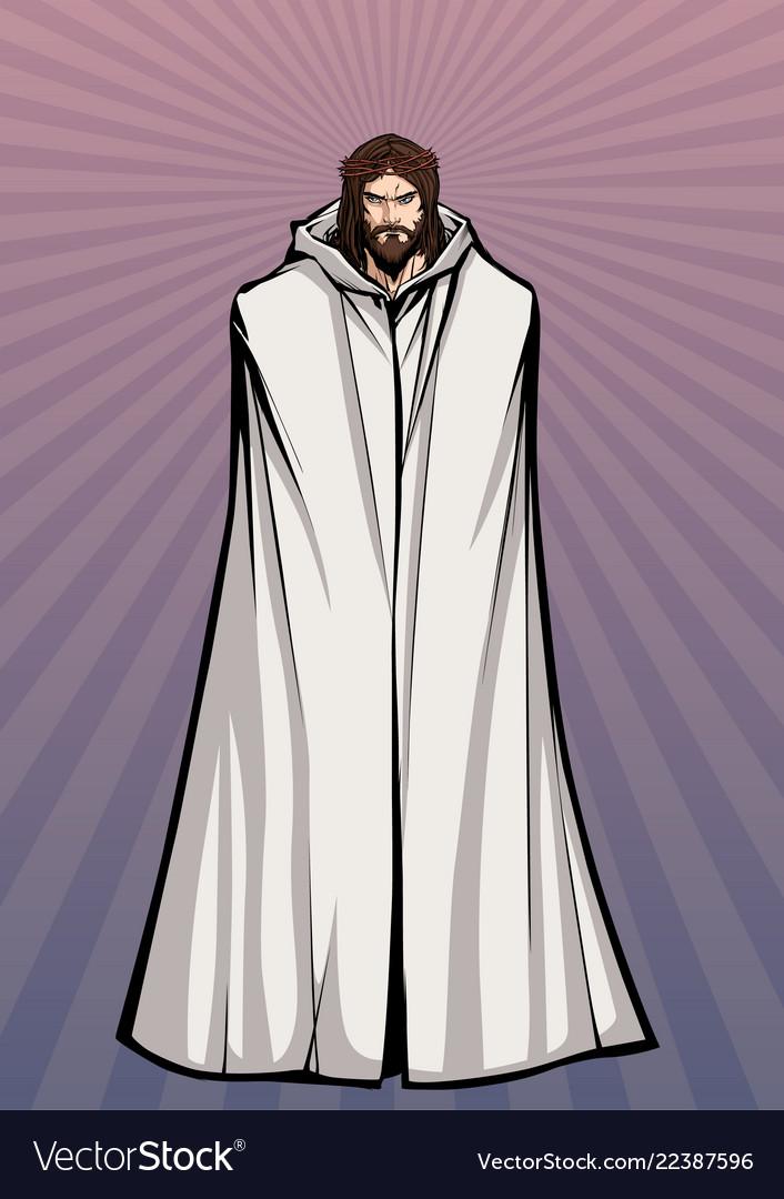 Jesus standing tall