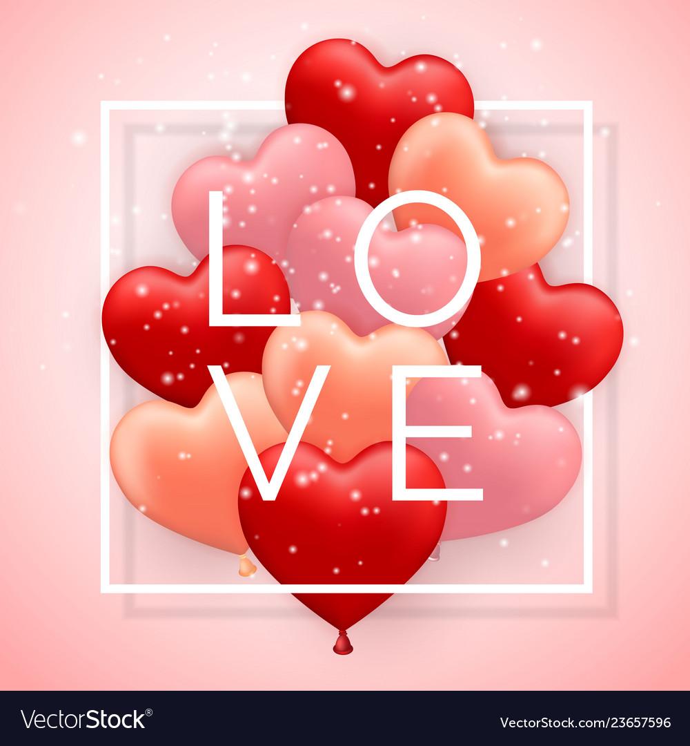 Love happy valentines day red pink and orange