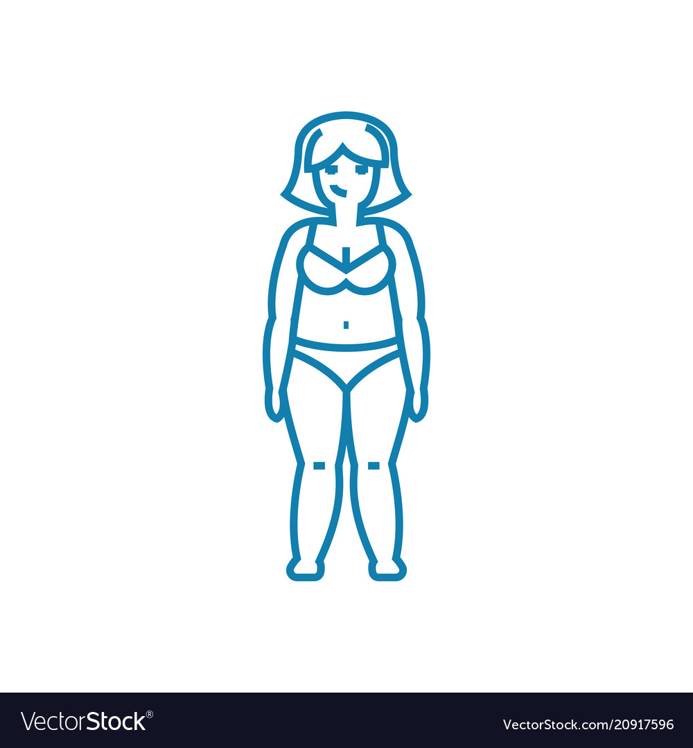 Need for weight loss linear icon concept need for vector image