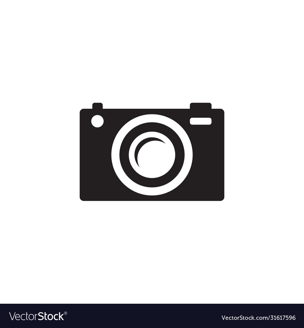 Photo camera - black icon on white background