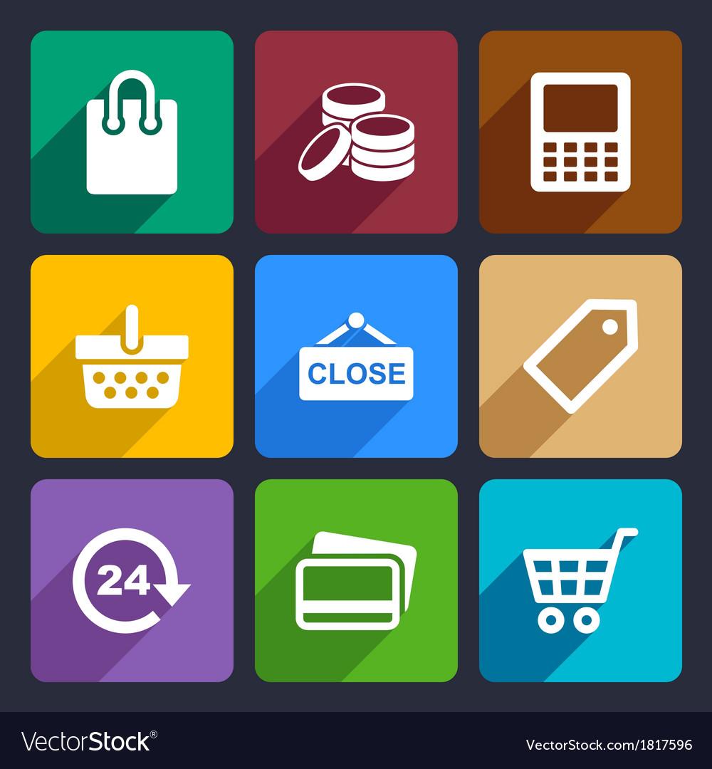 Shopping Flat Icons Set 36