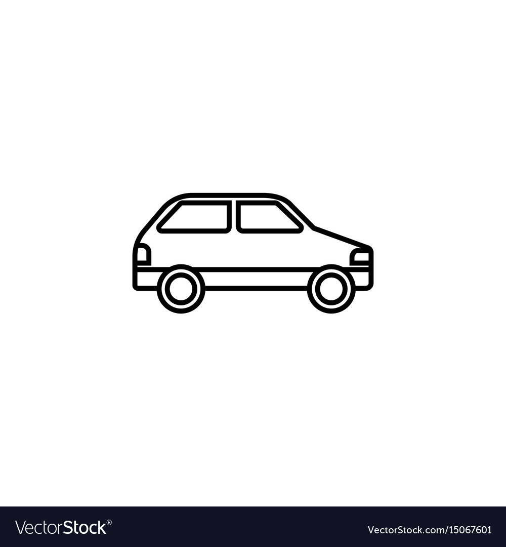 Car line icon navigation and transport sign vector image