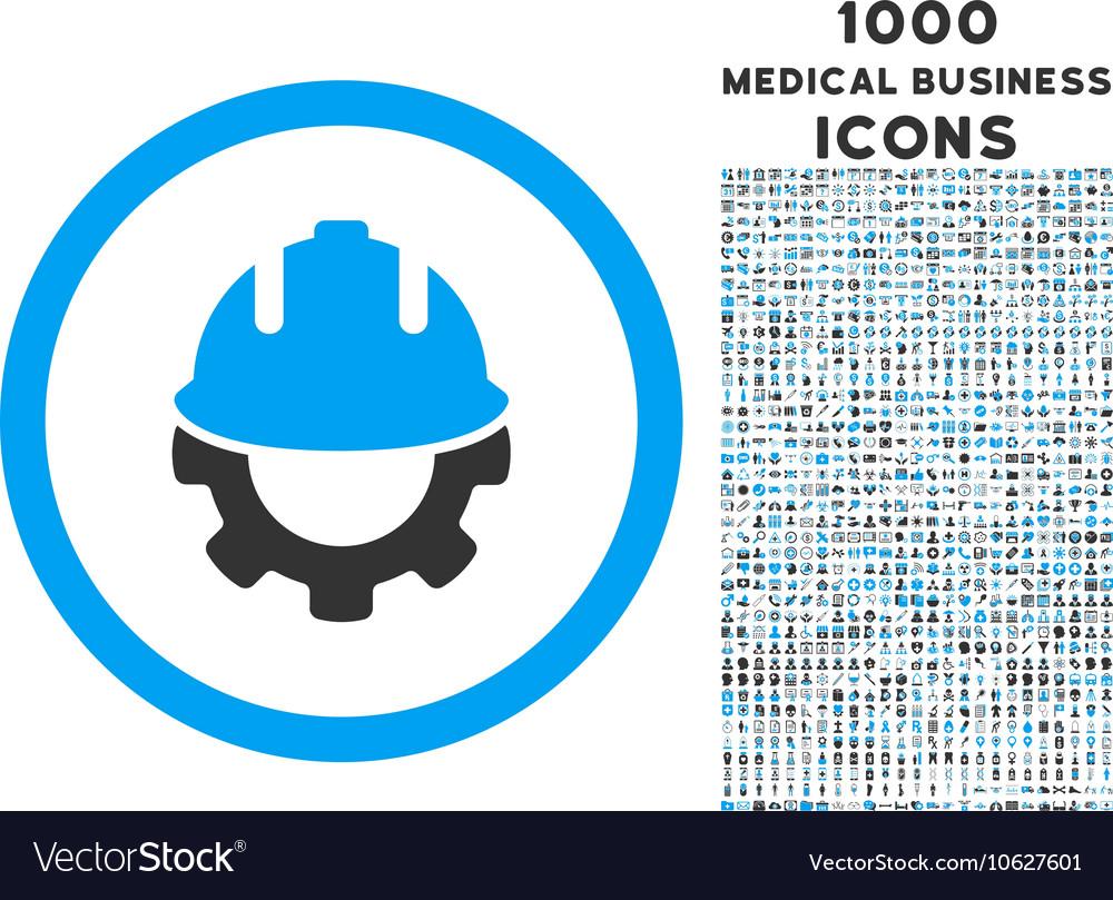 Development rounded icon with 1000 bonus icons