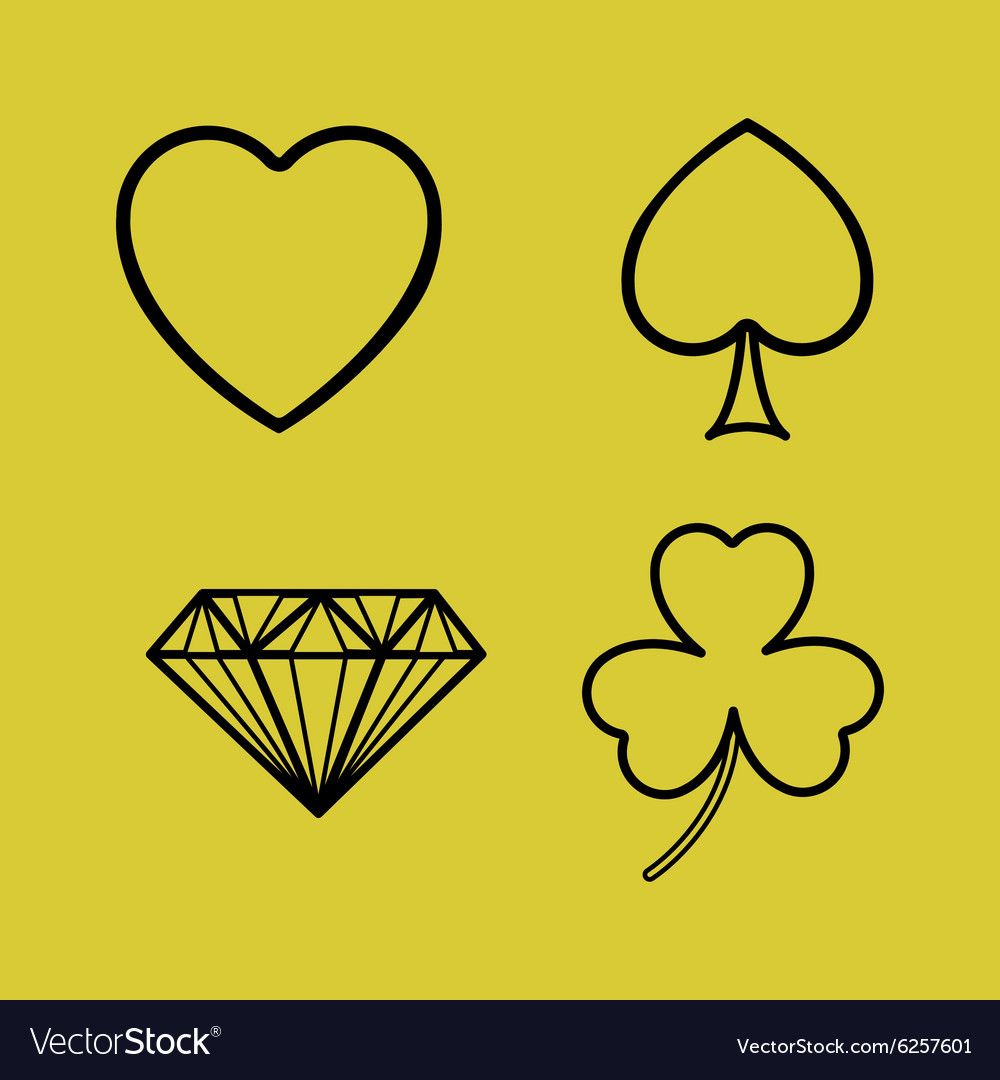 Game cards design vector image
