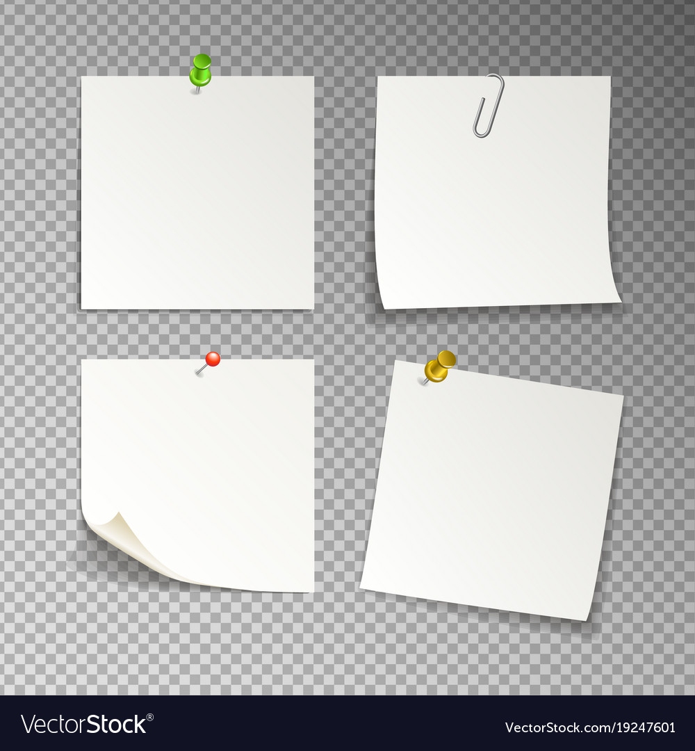 Isolated white sticky notes