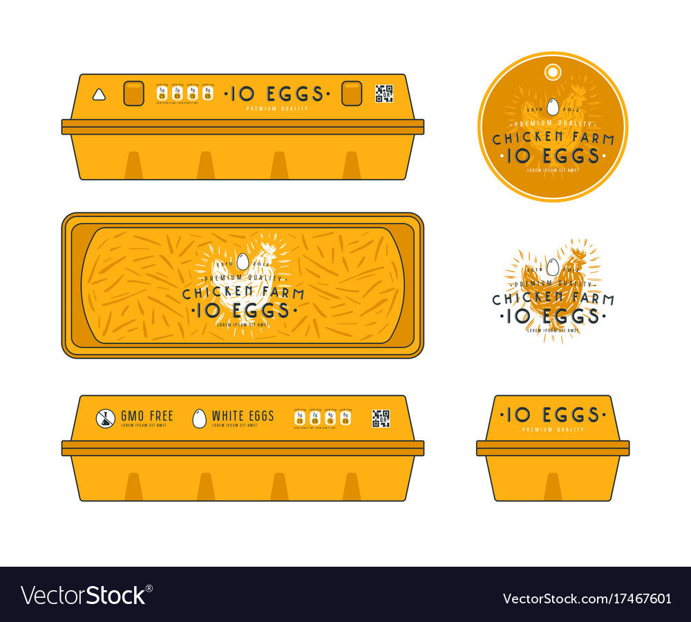 Template Label For Egg Packaging Royalty Free Vector Image
