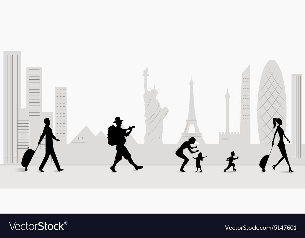 Travelers vector image