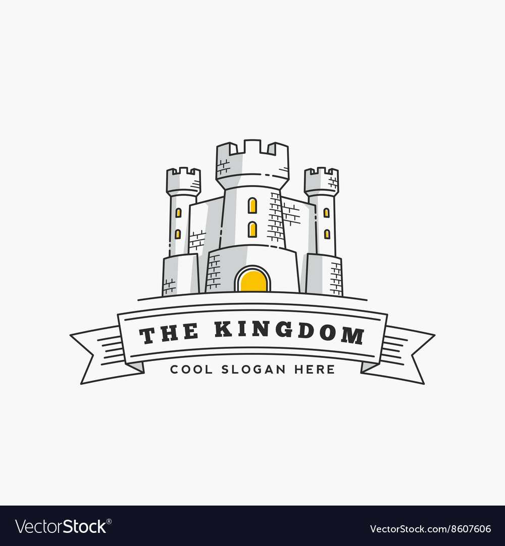 Abstract kingdom label sign or logo