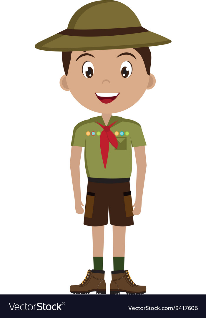Avatar boy with colorful clothes and hat