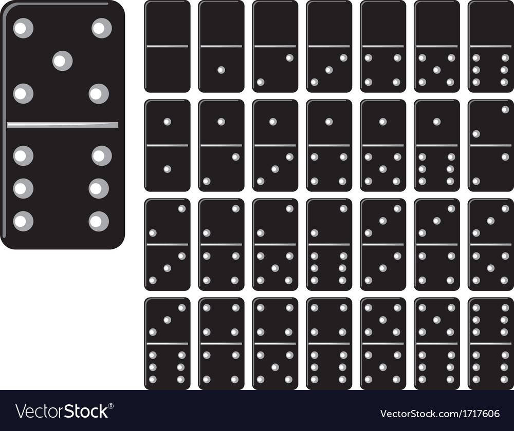 Collection of domino set with black spot