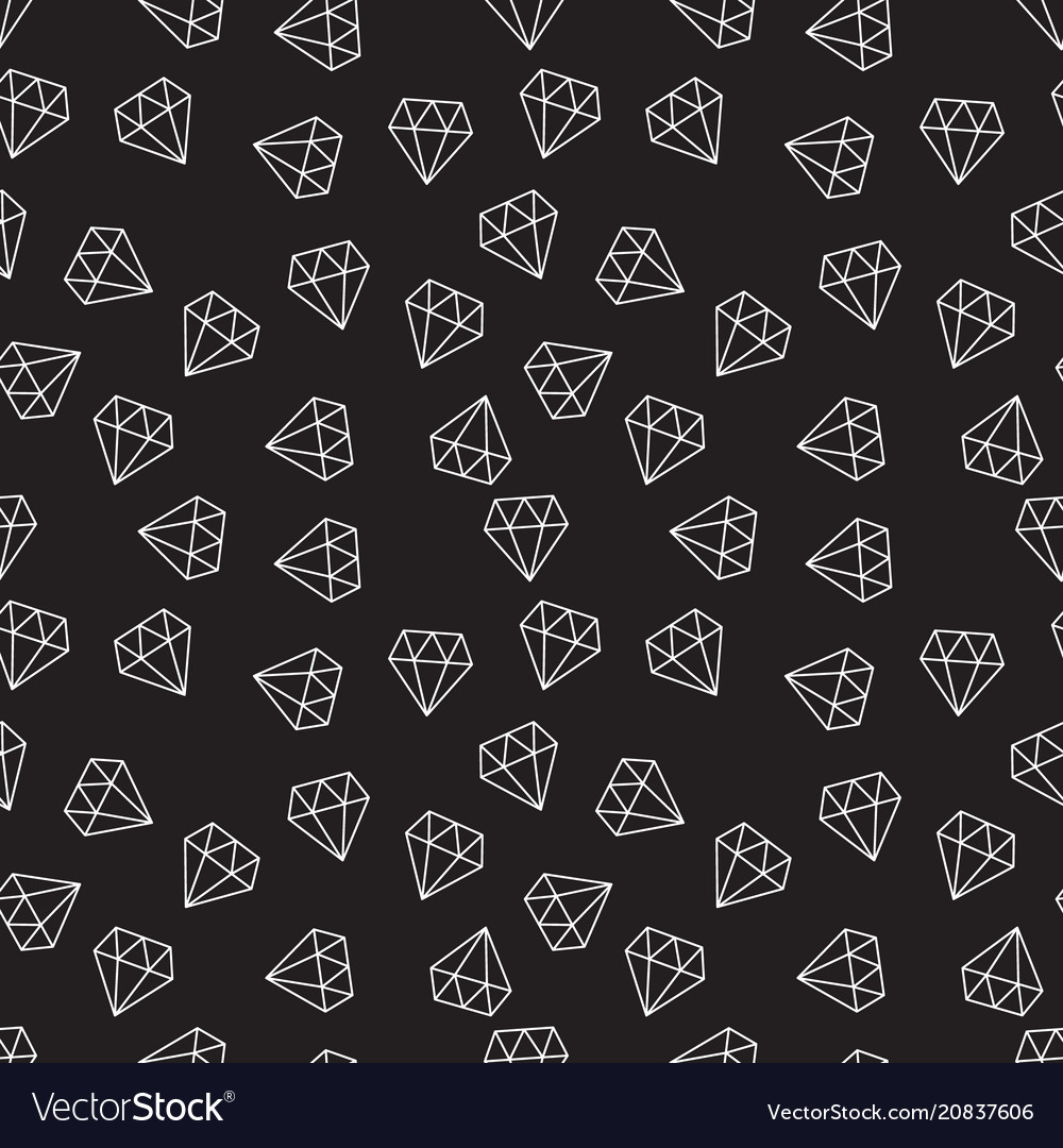 Diamonds dark random seamless pattern or