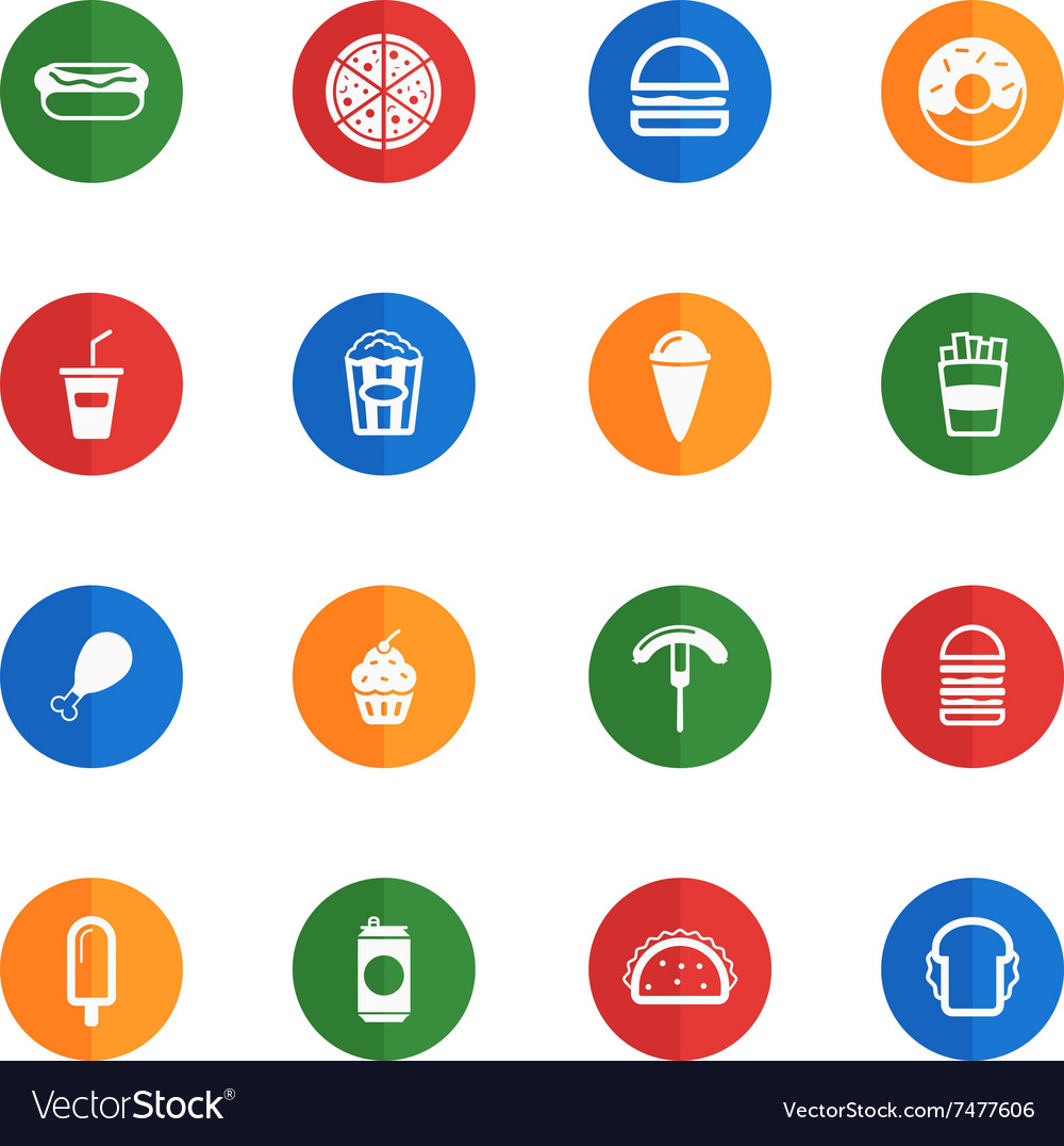 Fast food simply icons