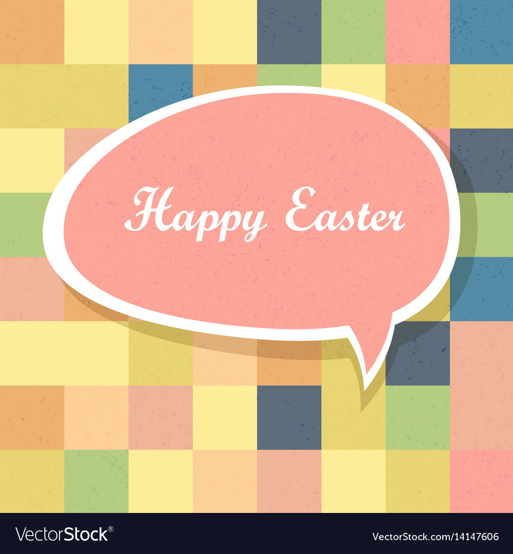 Happy easter mosaic seamless textured pattern