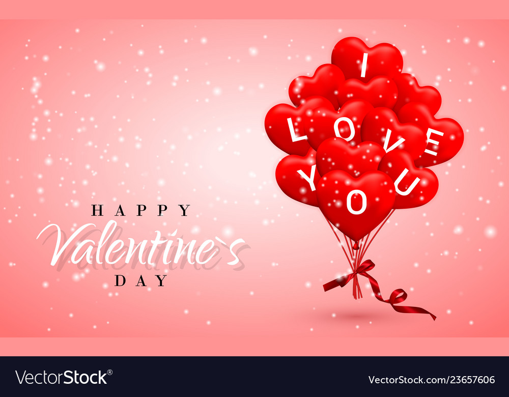 I love you happy valentines day background red