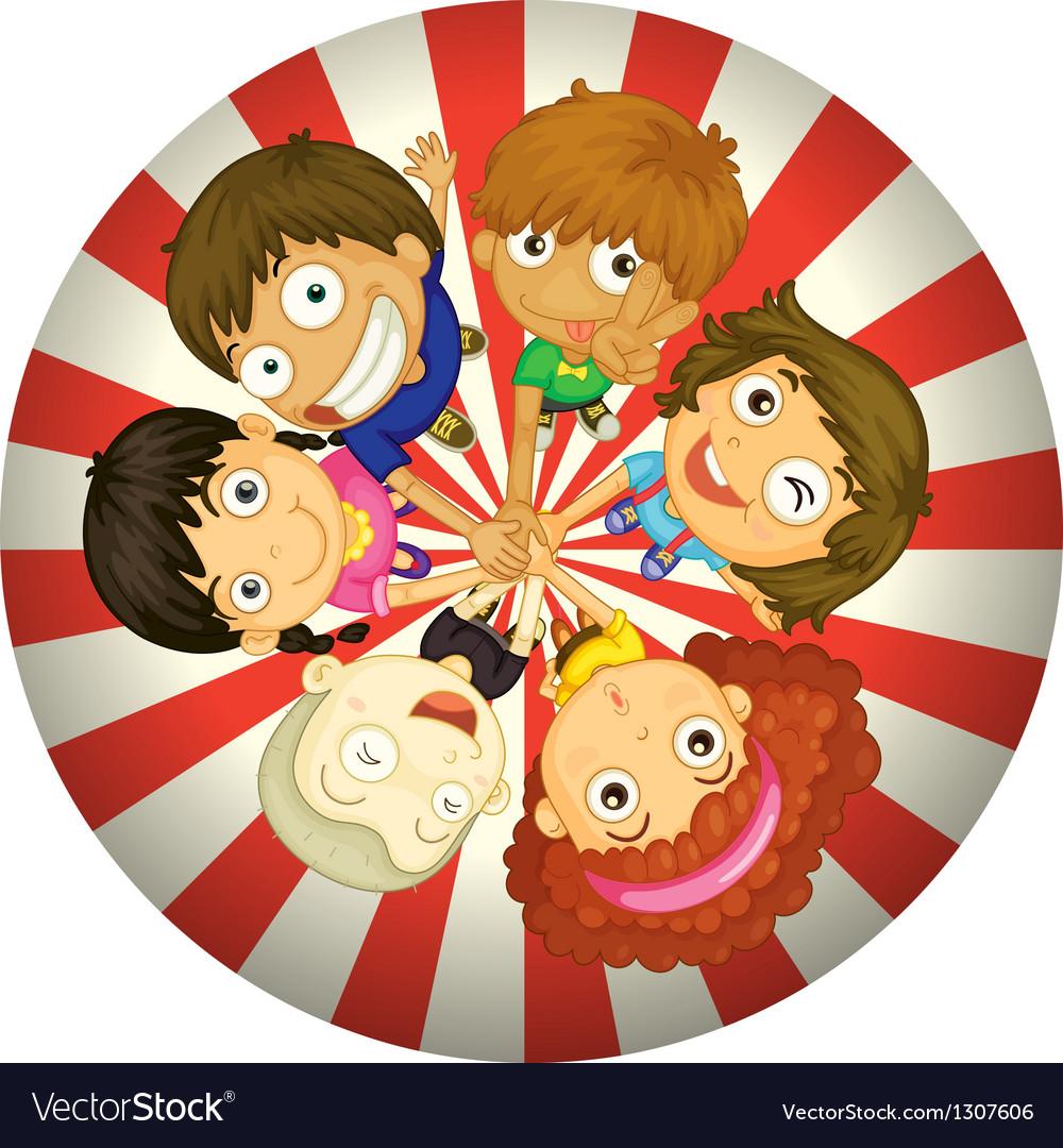 Kids playing inside a circle
