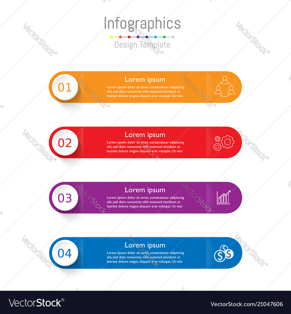 Modern infographic template layout for business
