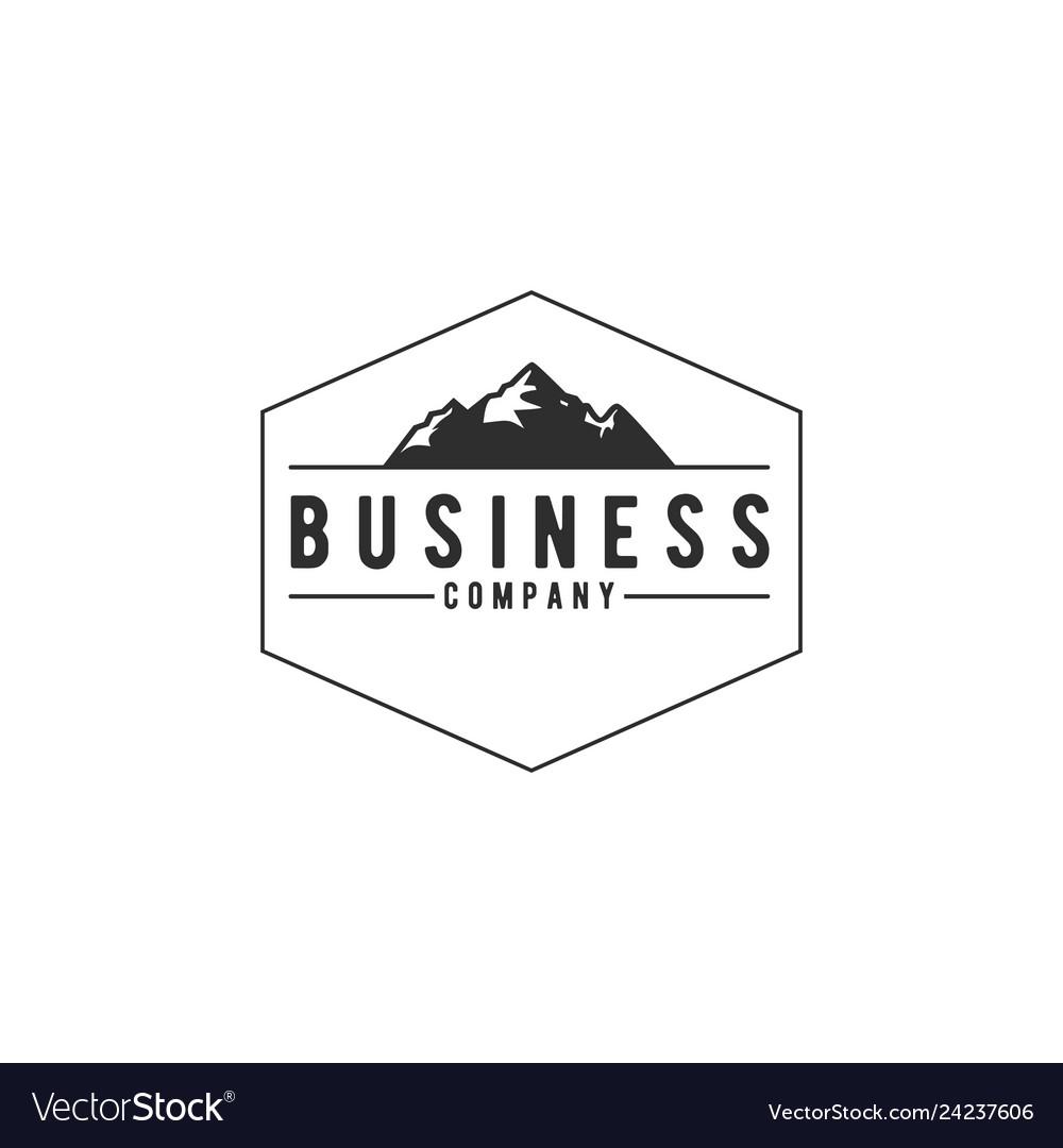 Outdoor mountain adventure logo design vector image