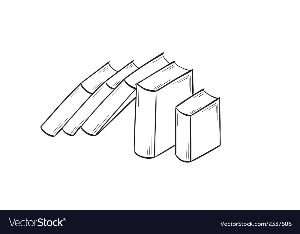 Set of the books vector image