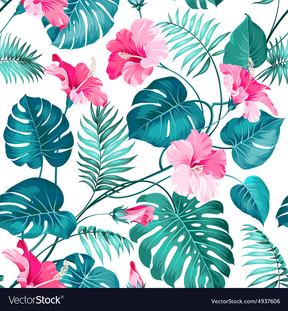 tropical flower royalty free vector image vectorstock rh vectorstock com vintage tropical flower vector tropical flower background vector
