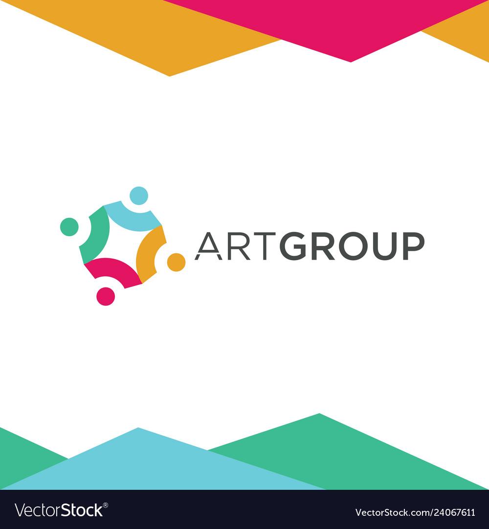 Colorful art group logo design