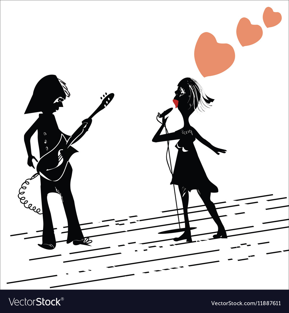 Couple Playing And Singing vector image