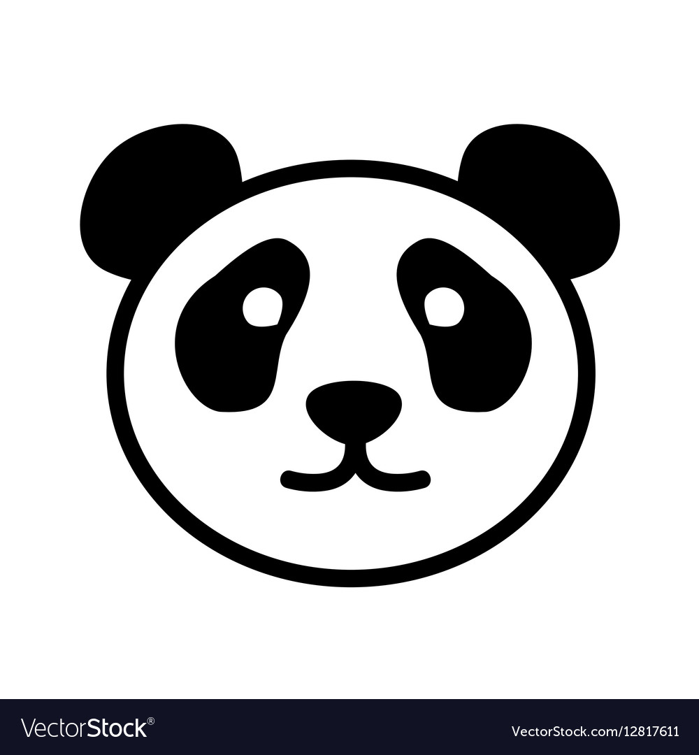cute panda face logo royalty free vector image