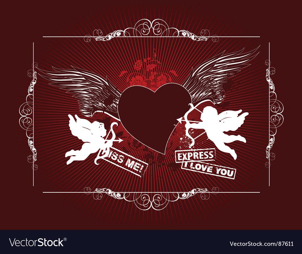 Grunge background for valentines day