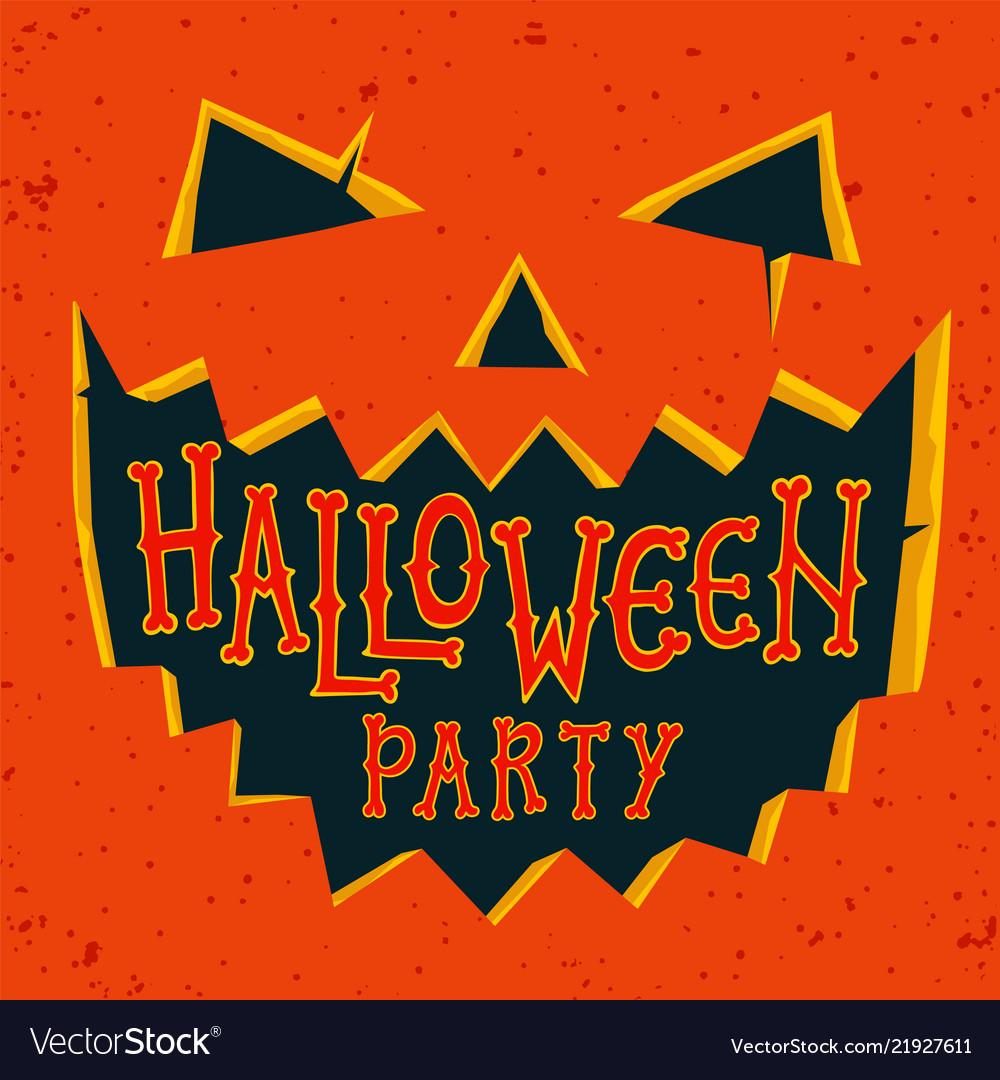 Halloween party invitation card halloween pumpkin