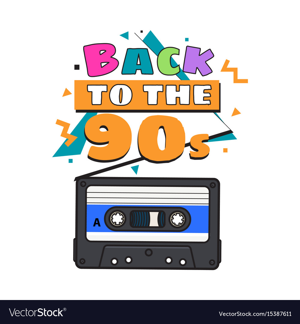 Old fashioned audio cassette tape from 90s
