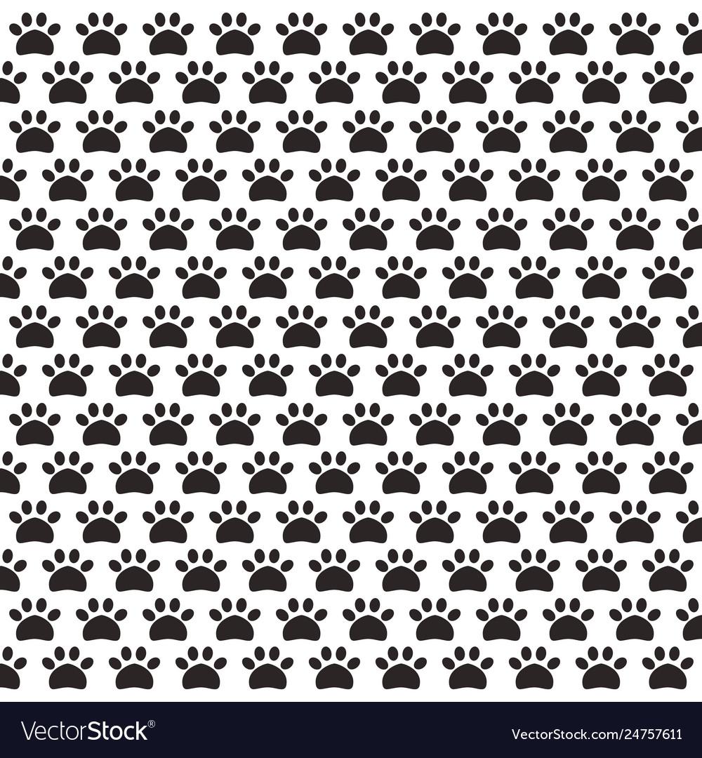 Paw print pet pattern background