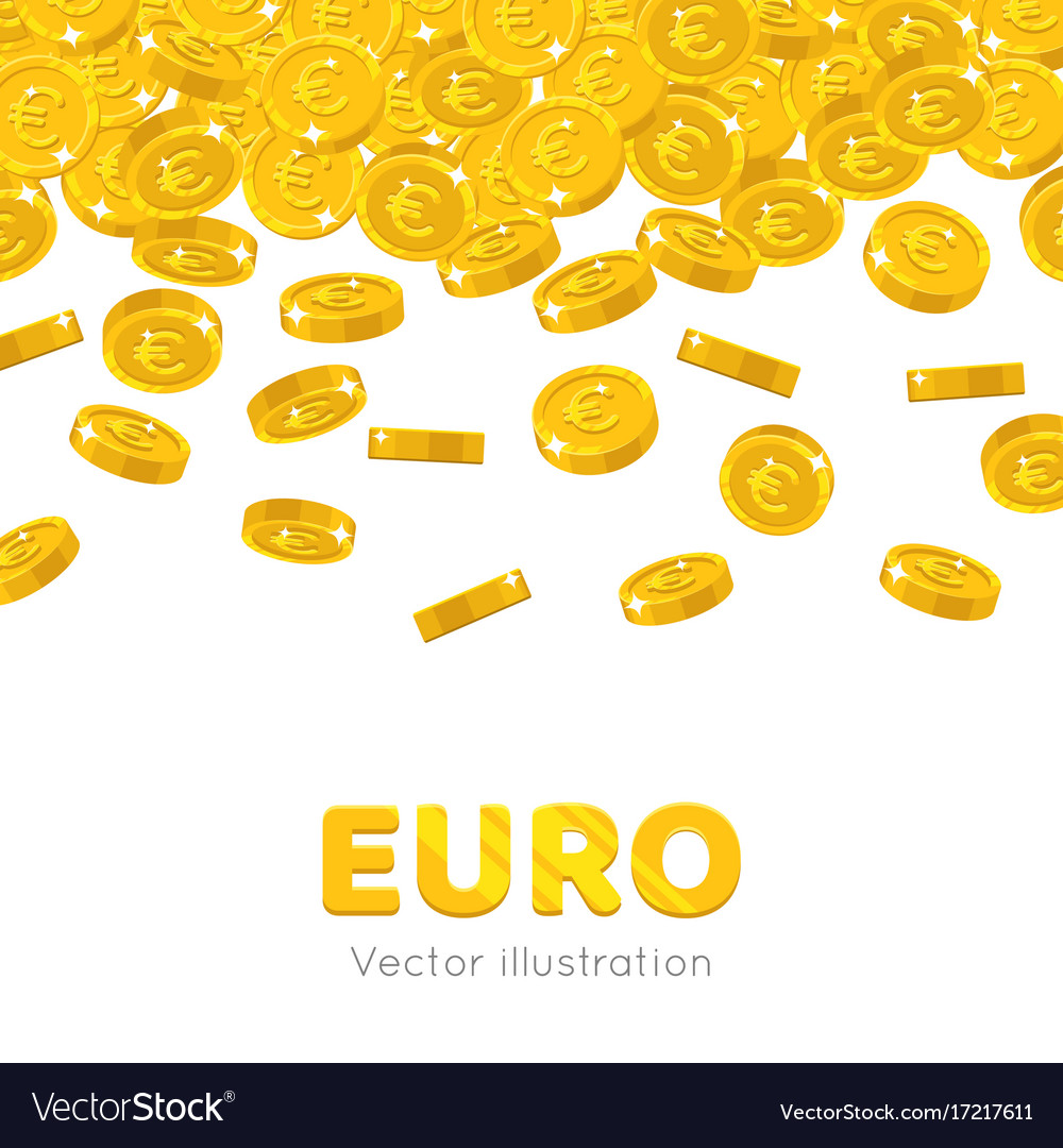 Rain Gold Euro Cartoon Frame Royalty Free Vector Image