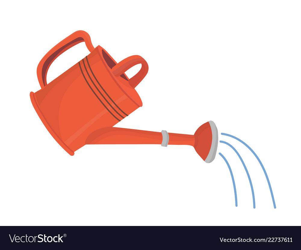 Red Garden Watering Can Royalty Free
