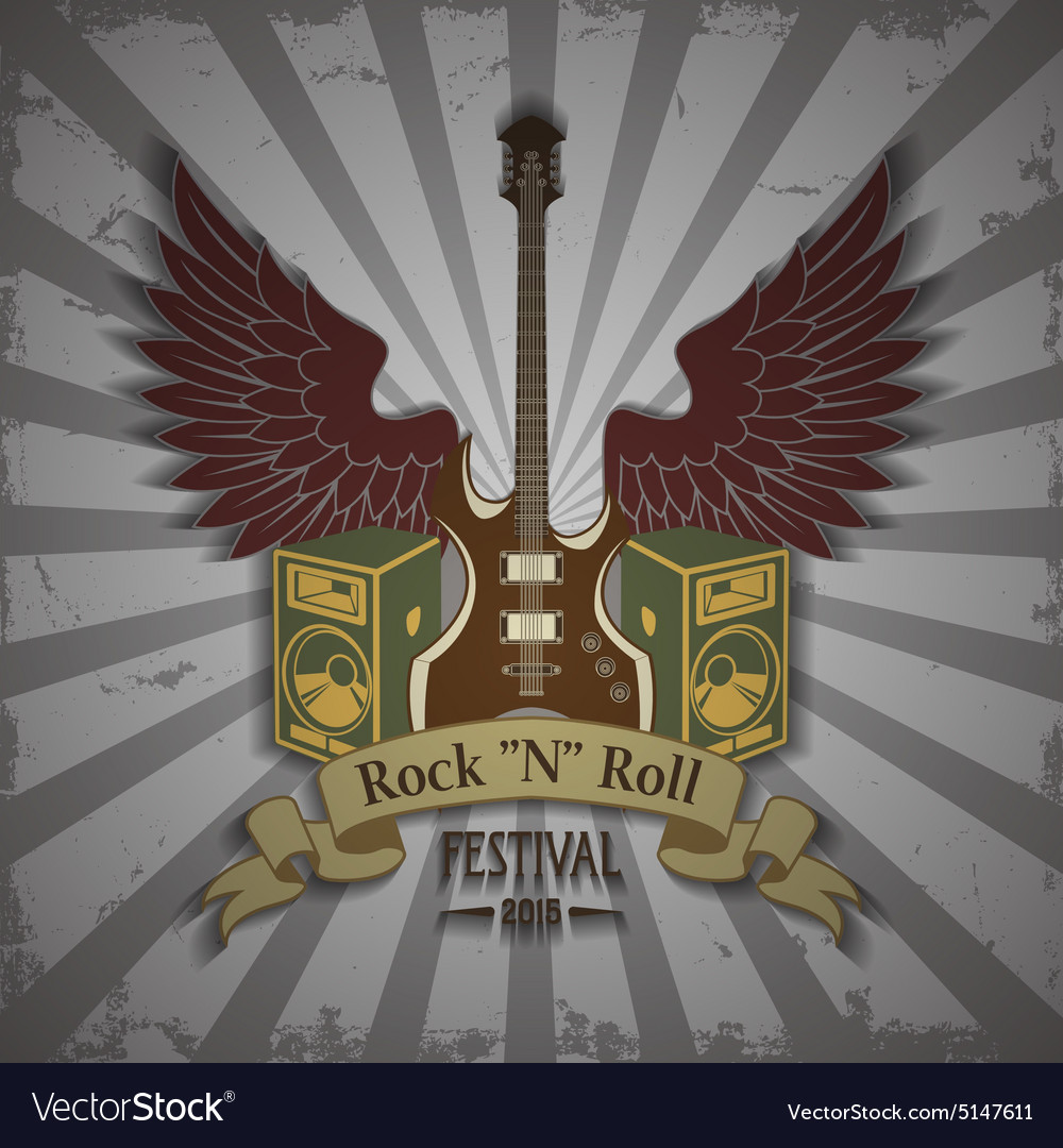 Symbol of rock festival