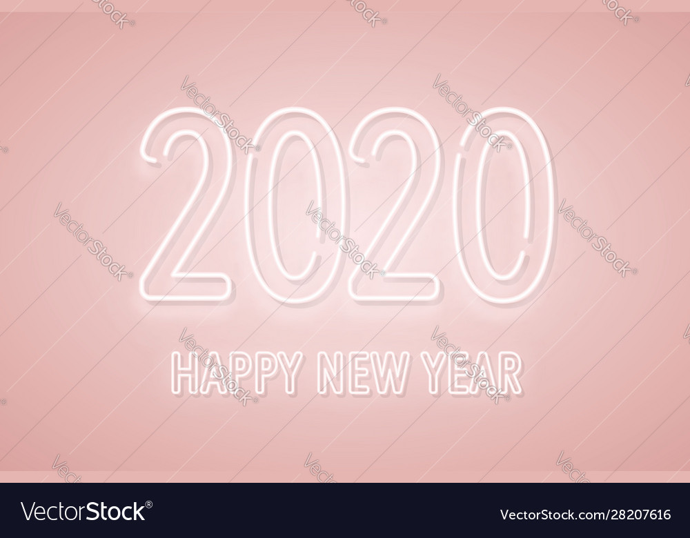 2020 new year neon signboard 2020 neon numbers on