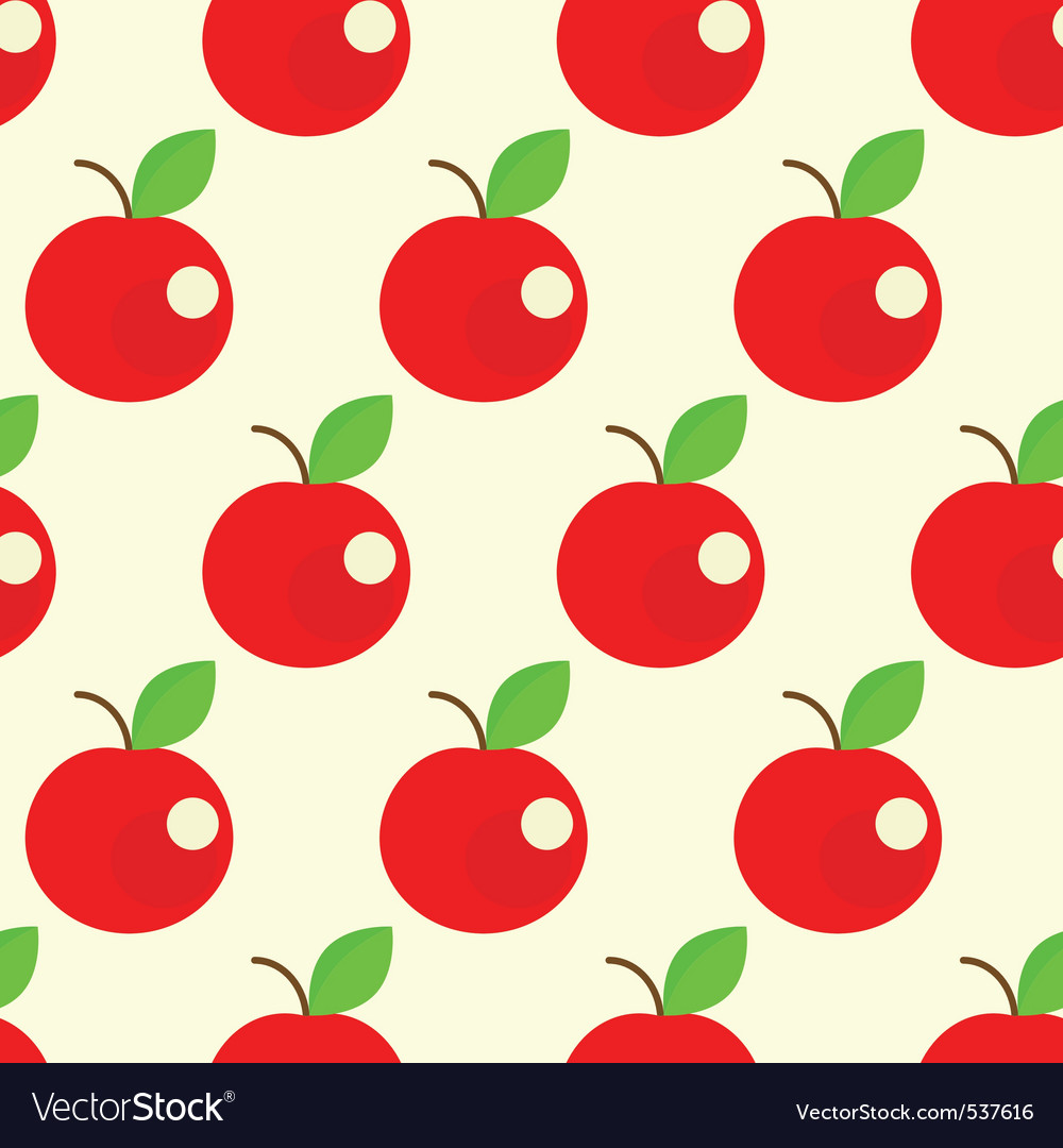 Seamless apples background