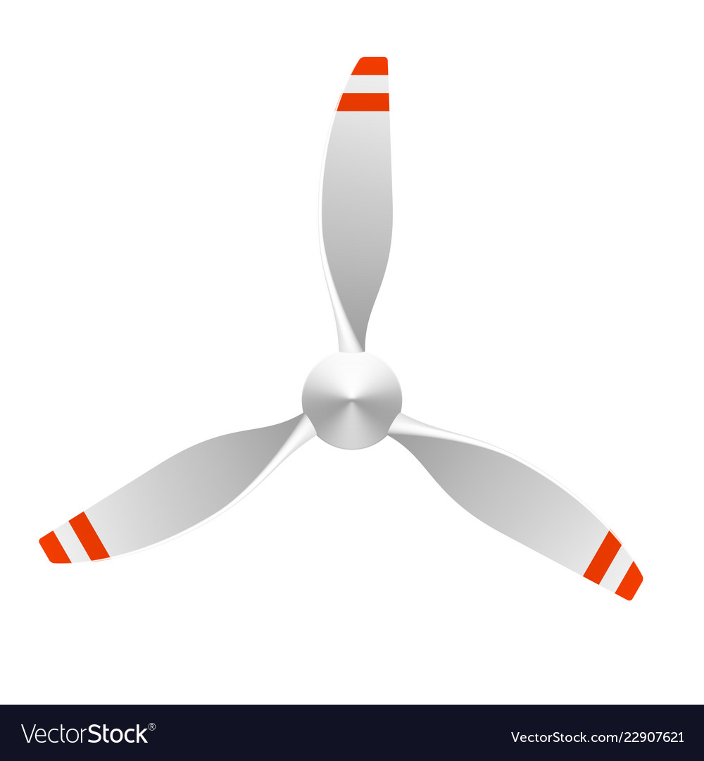 Airplane propeller with 3 blades