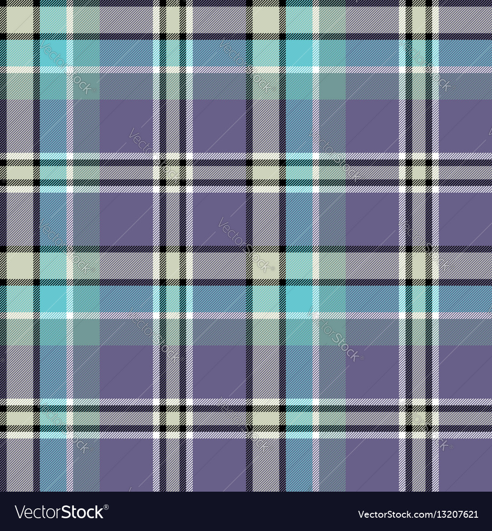 Blue gray colors check fabric texture seamless vector image
