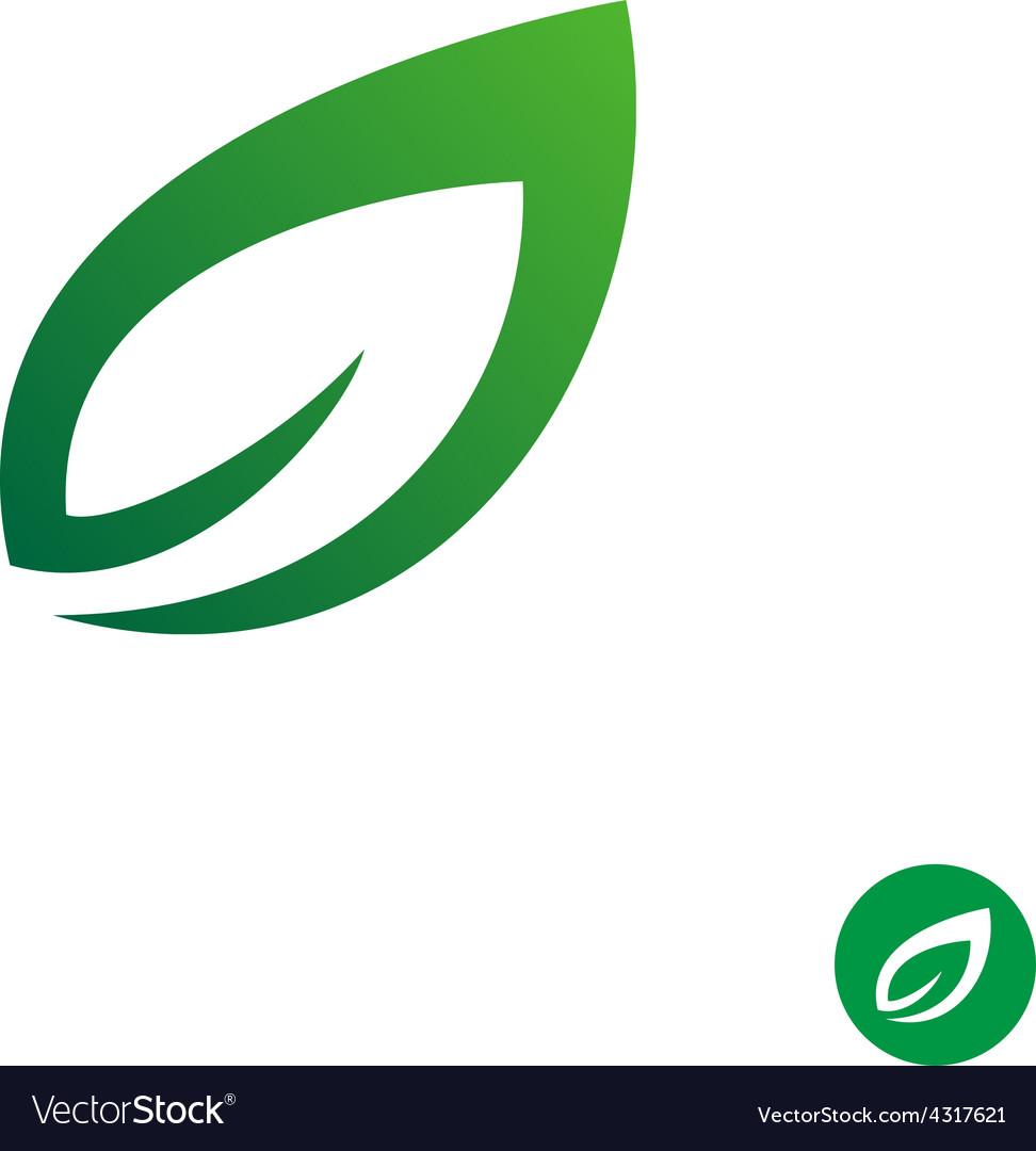 Green Leaf Symbol Royalty Free Vector Image Vectorstock