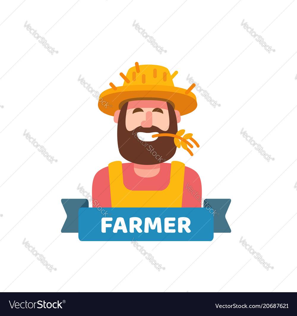 Happy cute farmer